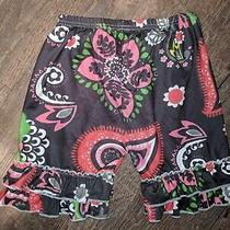 Vguc Girls Boutique Ruffle Shorts Size (Xxxl) 8-9. This Floral Print Is Cute Photo