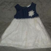 Vguc Guess Kids Denim & Lace Dress Blue / Ivory Sz 3t Photo