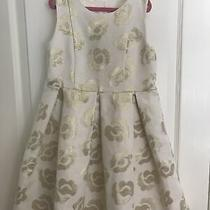 Vgucruby & Bloom Girls Sleeveless Beige Gold Metallic Dresssz 8 Photo