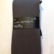 Via Spiga 2 Pair Packaged Tights in Black and Gray Size M/l Photo