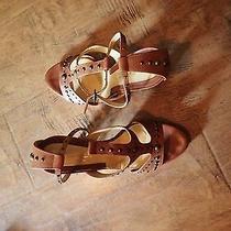 Via Spiga 6.5 Cognac Heels Photo