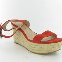 Via Spiga Ankle Strap  Red Wedge Womens Size 7.5 M New 195 Photo