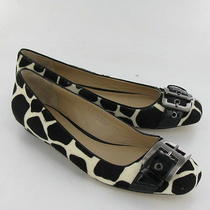 Via Spiga Ballet Black/white Flats Womens Size 8 M New 185 Photo