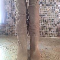 Via-Spiga Beige Suede Fashion Knee-High Boot Displaysize 8 Photo