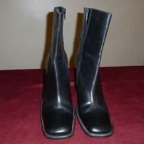 Via Spiga Black Ankle Boots Size 11 M Photo