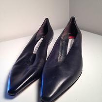 Via Spiga Black Dress Heels Leather Upper Size 8b Made in Italy Elegant B1742 Photo