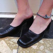Via Spiga Black  Made in Italy Size 8 N Mules Block Heel Photo