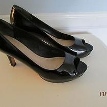 Via Spiga Black Patent Platform Heels 6m. 3