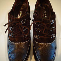 Via Spiga Boots Zipper 7.5 Color Brown Made in Italy Photo