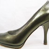 Via Spiga Bronze Brown Metallic Leather High Heel Womens Shoes Size 6 Nib 175 Photo