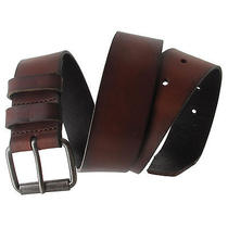 Via Spiga Brown Classic Genuine Leather Mens Belt Size 38 Photo