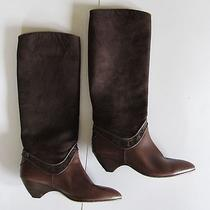 Via Spiga Brown Leather Suede Knee High Fashion Boots Women's Sz 6 Photo