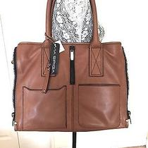 Via Spiga Brown Leather Tote Shopper Althea Nwt 398.00 Photo