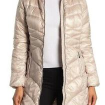 Via Spiga Champagne Quilted Water Repellent Coat Size M 200 Msrp Nordstrom Photo