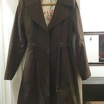 Via Spiga Chocolate Springtime Coat - Size M Photo
