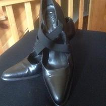 Via Spiga Classics Vintage Black Leather High Heel Size 10 M Rare Look  Italy  Photo