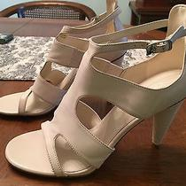 Via Spiga Cream Leather Heels New Size 8 Photo