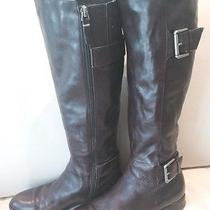 Via Spiga Dark Brown Leather Woman's Boot Size 7- Beautiful Soft -450 Retail Photo