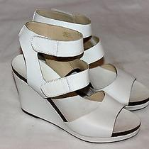 Via Spiga Designer White Wedge Heels Leather Sz 9m Us Nordstrom 189 Fbb Photo
