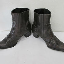 Via Spiga Distressed Gray Bronze Ankle Boots  Size 6 M  Photo