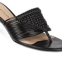 Via Spiga Dusty Thong Black Sandals Shoes 10 Photo