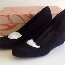 Via Spiga Farley Black Suede Wedge Heel 8m Photo
