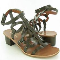 Via Spiga Federica Dark Olive Sandals Womens Size 8 M New 195 Photo