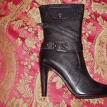 Via Spiga Genuine Leather Black Boots. New in Original Box.  Photo
