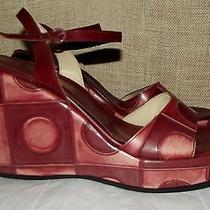 via Spiga Heavy  Platform Wedges Heels Womens Sz 10 Photo
