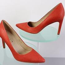 Via Spiga Idalis Coral Embossed Leather Pumps Us Size 7m 3.5in Covered Heel  Photo