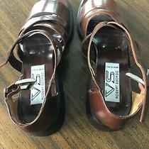 Via Spiga Italian Brown Leather Womens Sandals New in Box  Photo