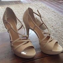 Via Spiga Ivory Leather Strappy Sandal Heels sz7.5 Orig 250 Bnwt Wedding Shoes Photo