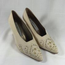 Via Spiga Ivory With Gold Heels Beaded Italian Heels-Vero Cuio-Wedding Shoes Photo