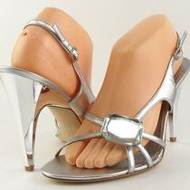 Via Spiga Kathy Silver Stone Womens Designer Shoes Wedding Sandals 9.5 M Photo