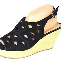 Via Spiga 'Katrina' Wedge Sandal in Black Size 9.5  Photo