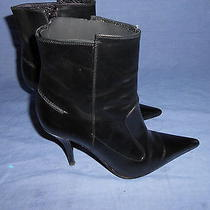 Via Spiga  Leather Booties Pointy Toe Ankle Boots Heels Size 6.5 M Photo