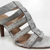 Via Spiga Lulu Womens Stiletto Ankle Strap Sandals Shoe Sz 7 M Cream 3 1/2