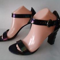 Via Spiga Made in Italy Black 4 Inch Size 9.5m Heels Sandals  Photo