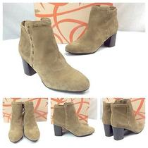 Via Spiga New Sexy Brown Suede Leather Stitch Wooden Heel Ankle Boots Sz 6 275 Photo