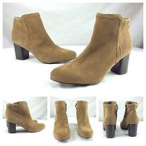 Via Spiga New Sexy Sand Brown Suede Wooden Heels Ankle Boots Sz 9.5 275 Photo
