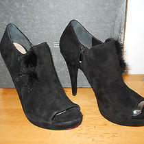 Via Spiga New Womens Isabella Black Leather Ankle Boots 9.5 M Shoes Nwb   Photo