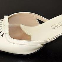 Via Spiga Off White Vintage Leather Heels Sz 7 M Gc Made in Italy Photo
