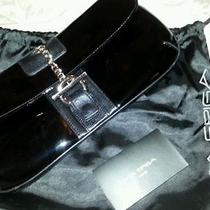 Via Spiga Patent Leather Clutch With Leather Trim Photo