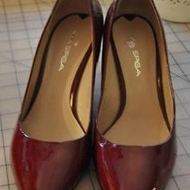 Via Spiga Red Patent Leather Womens Wedge Heels Size 7.5 Nice Lk Photo