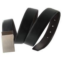 Via Spiga Reversible Black Brown Genuine Leather Mens Belt Size 42 Photo