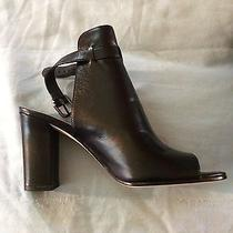 Via Spiga Sandals Bootie Heels Black Leather Size Eur 38 Us 7.5retail 195 Photo