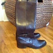 Via Spiga Sheldon Leather Knee High Riding Boots Dark Brown Size 9.5 M 398 Photo