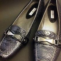 Via Spiga Shoes Blue Metallic Photo