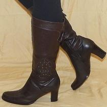 Via Spiga  Size 10 Medium Dark Brown Brass Studs High End Italian Boots Mint Photo