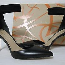 Via Spiga Size 8.5 M Ife Black Leather Ankle Strap Heels New Womens Shoes Photo